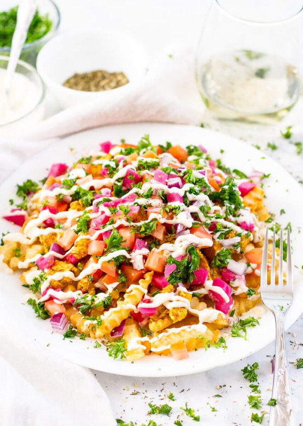 Loaded Chicken Shawarma Fries