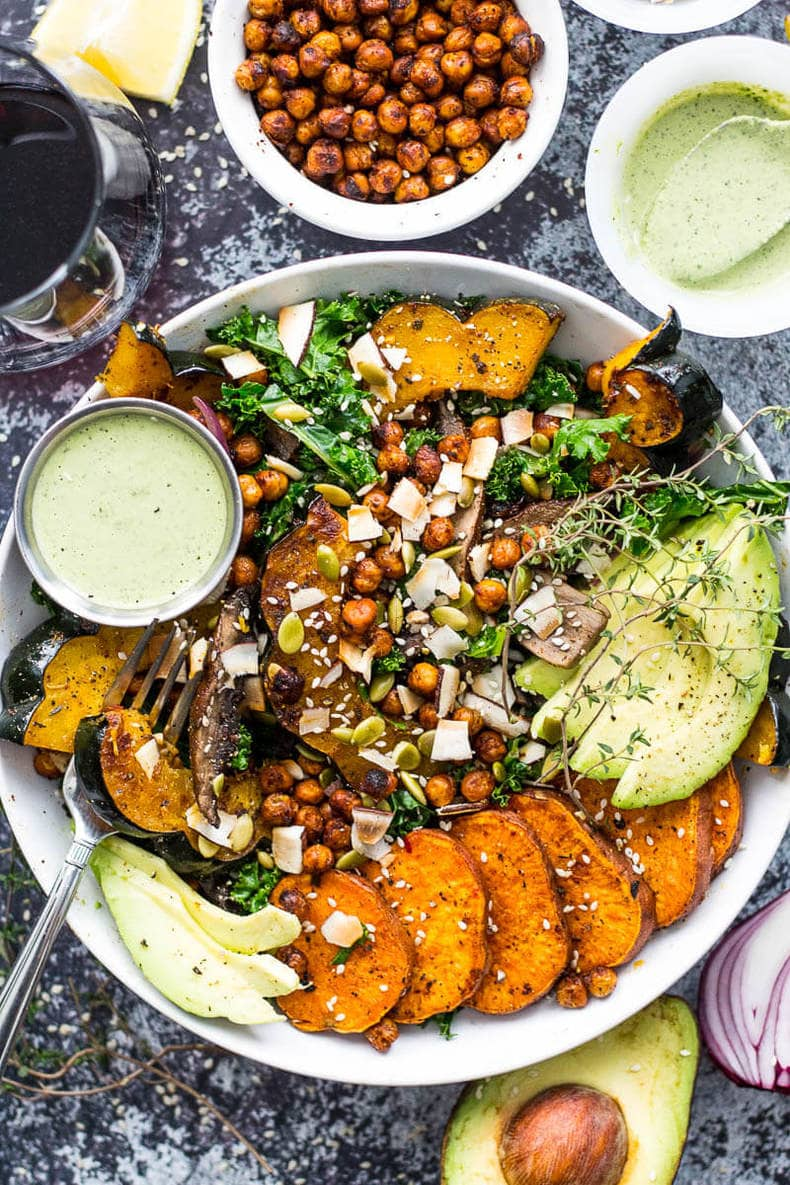 Sweet Potato, Squash and Kale Buddha Bowl