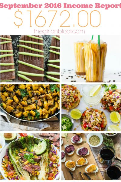 September 2016 Income: Attending Food Blogger Conferences!