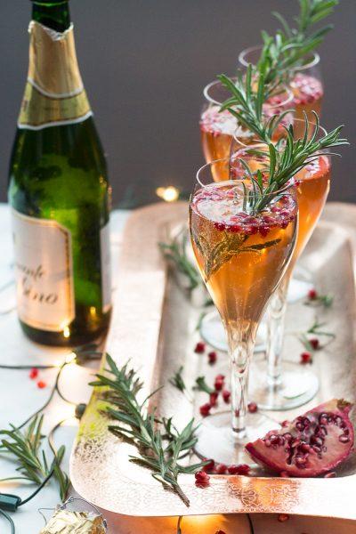 Champagne Pomegranate Spritzers