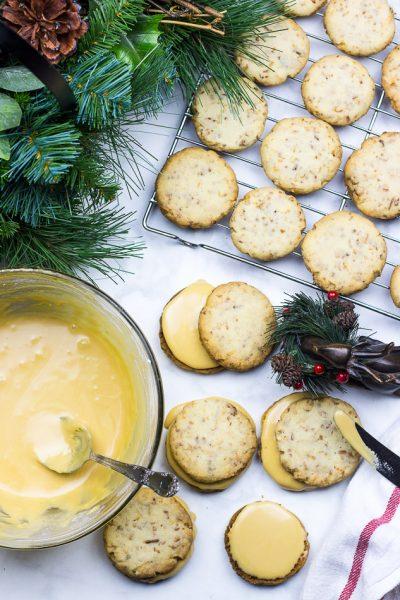Coconut Shortbread Cookies + Salted Caramel Buttercream