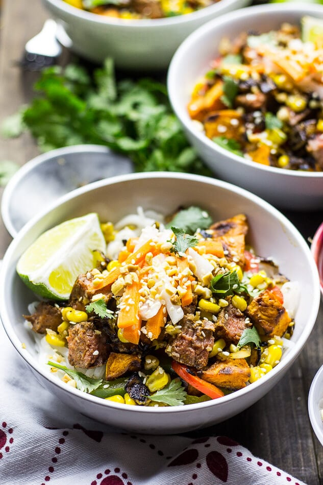 Lemongrass Steak Noodle Bowls