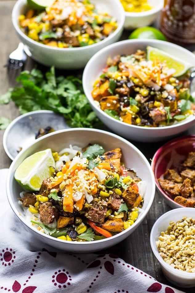 Lemongrass Steak Noodle Bowls