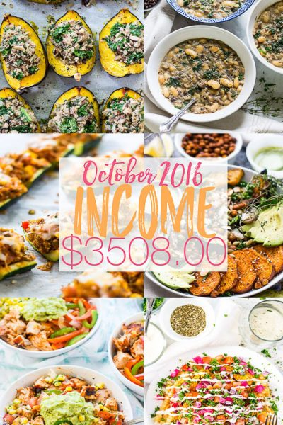 October 2016 Income: Doubling Your Income