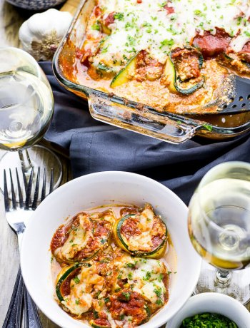 Bolognese Zucchini Lasagna Roll Ups