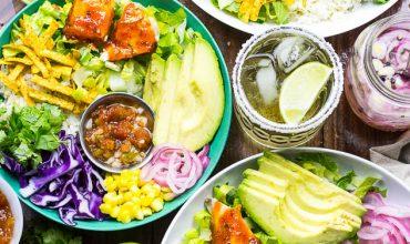 Chili Lime & Ginger Salmon Taco Bowls