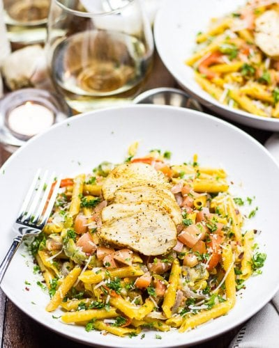 Gluten-Free Cajun Chicken Pasta (Video!)