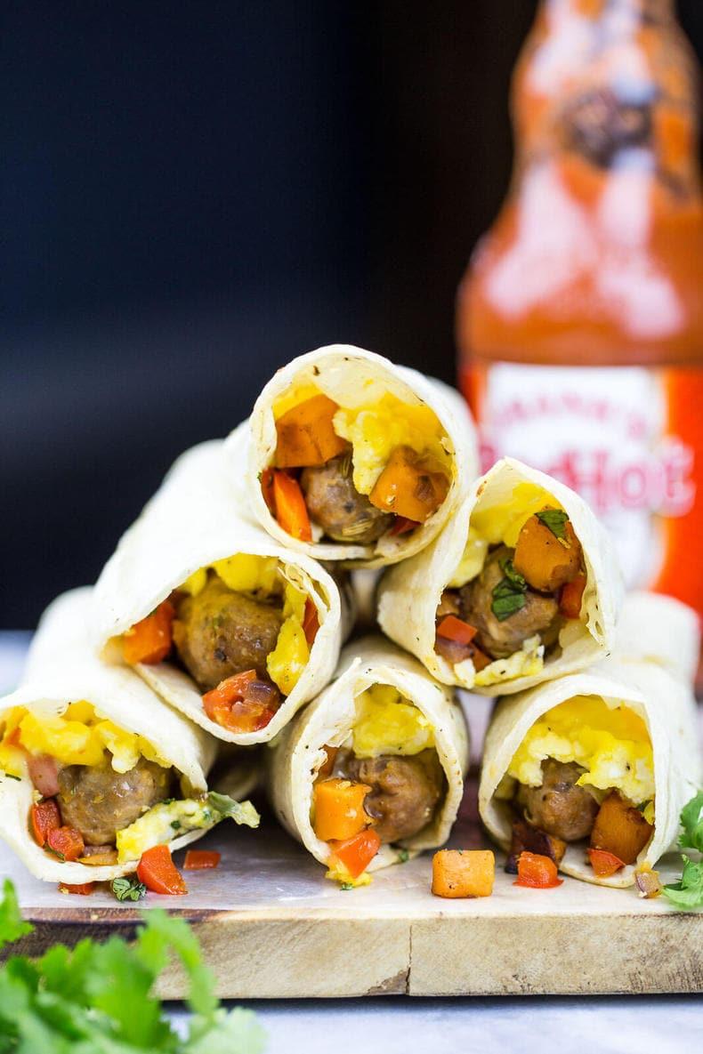 Sweet Potato Breakfast Taquitos Recipe — Dishmaps