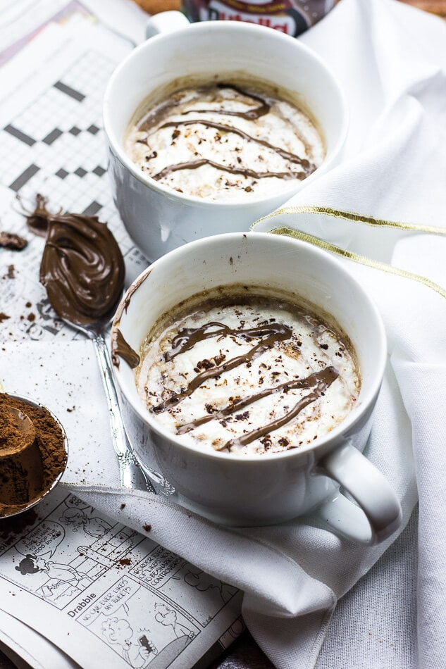 Homemade Nutella Mocha Lattes
