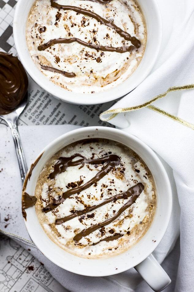 Homemade Nutella Mocha Lattes