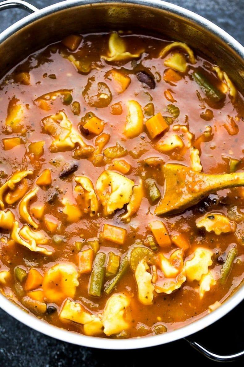 30-Minute Tortellini Minestrone Soup