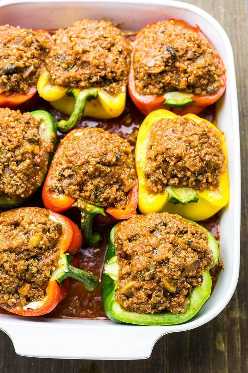 Quinoa Lasagna Stuffed Peppers
