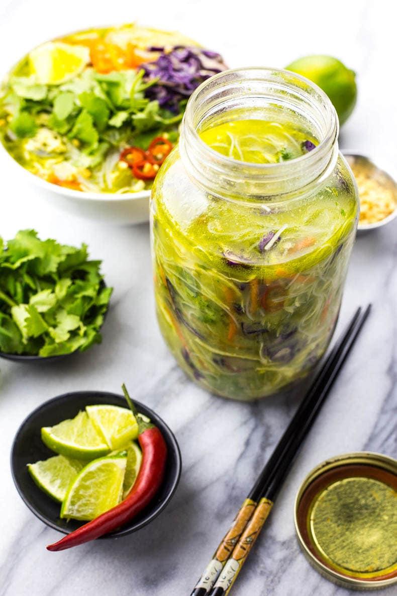 Thai Green Curry Chicken Vermicelli Bowls