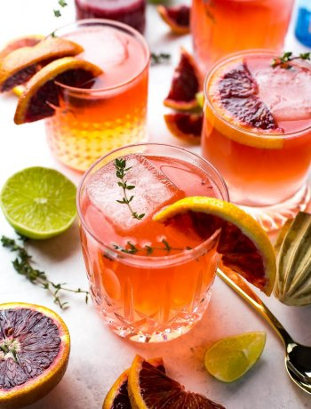 These Blood Orange Gin and Tonics are a delicious spin on a classic cocktail - just add some seasonal citrus and fresh thyme for explosive flavour!