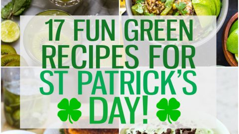 With St. Patrick's Day coming up, I'm bringing you 17 fun, green treats and delicious dinners to celebrate everyone's favourite Irish holiday! #StPatricksDay #StPaddysDay #GreenRecipes