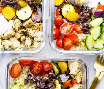 Meal Prep Chicken Souvlaki Bowls