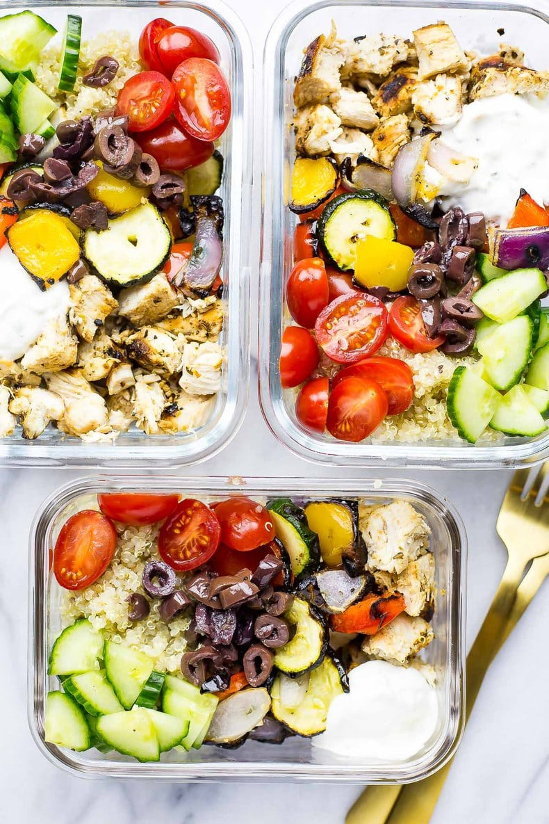 Meal Prep Chicken Souvlaki Bowls The Girl On Bloor