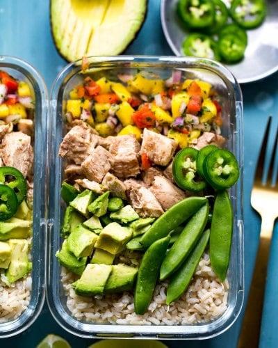 Meal Prep Jerk Chicken Rice Bowls (Video!)