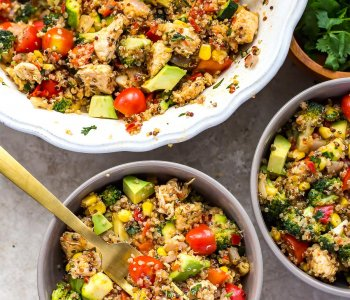 Chili Chicken Quinoa Salad