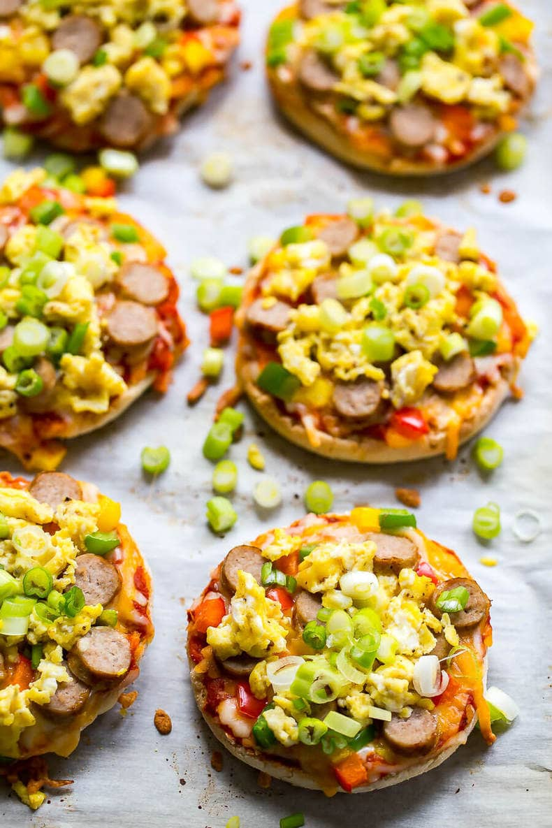 Freezer-Friendly Mini Breakfast Pizzas