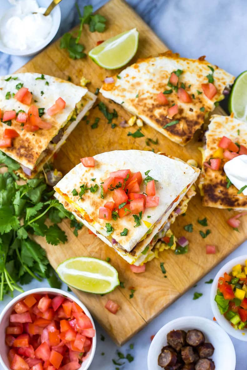 Freezer-Friendly Tex Mex Breakfast Quesadillas