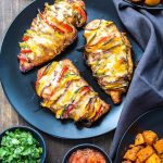 Grilled Hassleback Fajita Stuffed Chicken
