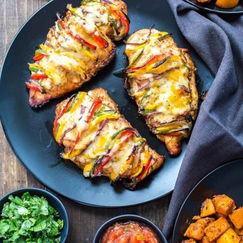 Grilled Hassleback Fajita Stuffed Chicken