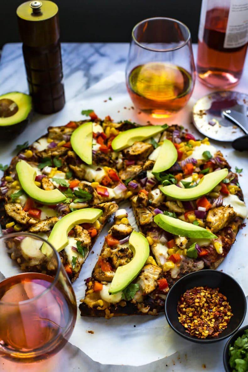Southwest Chipotle Avocado Corn Pizza
