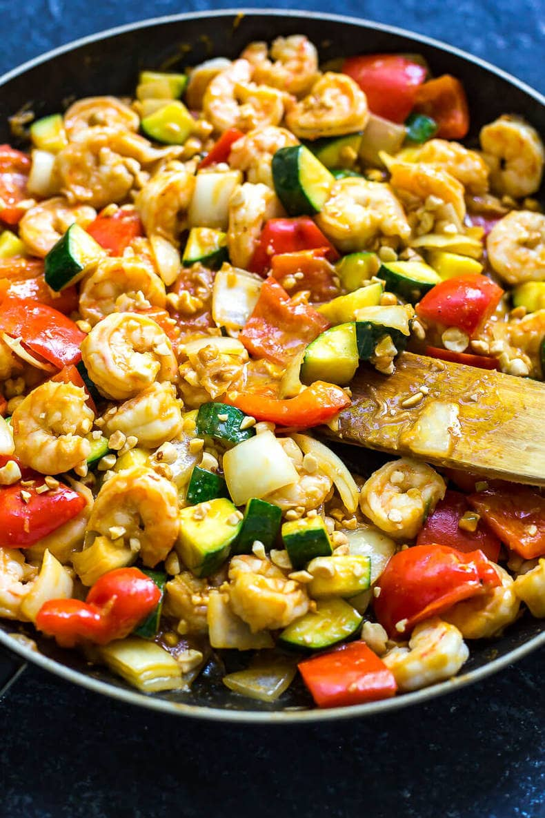 30-Minute Kung Pao Shrimp
