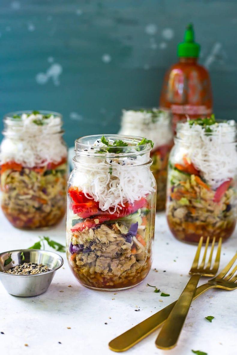 Quick & Easy Chicken Spring Roll Jars