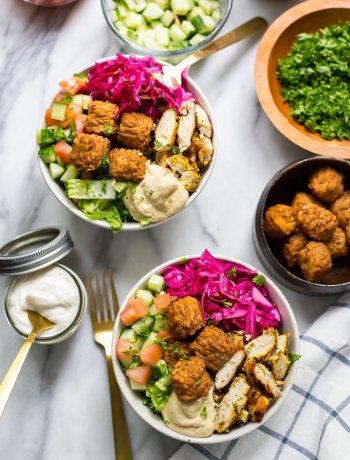 Easy Baked Falafel Buddha Bowls