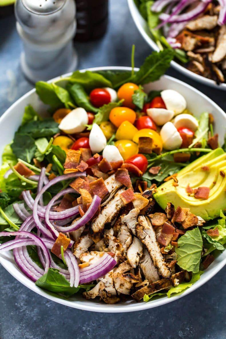 Grilled Chicken, Avocado & Ranch BLT Salad