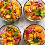 Meal Prep Buffalo Chicken Burrito Bowls