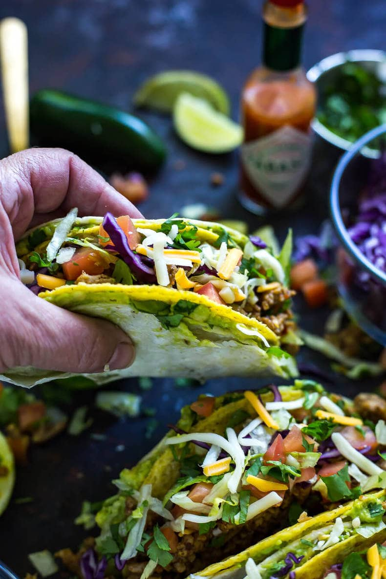 Healthy Double Stacked Turkey Tacos