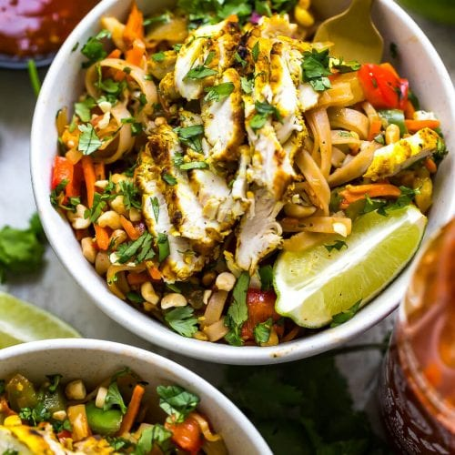 Lemongrass Chicken Noodle Bowls