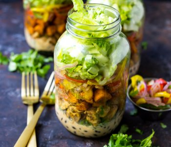 Sweet Potato Chipotle Chicken Burrito Jars