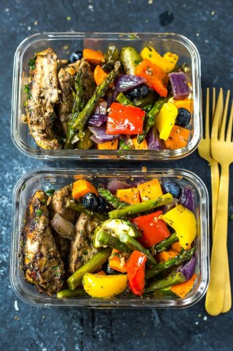 Blueberry Balsamic Sheet Pan Chicken
