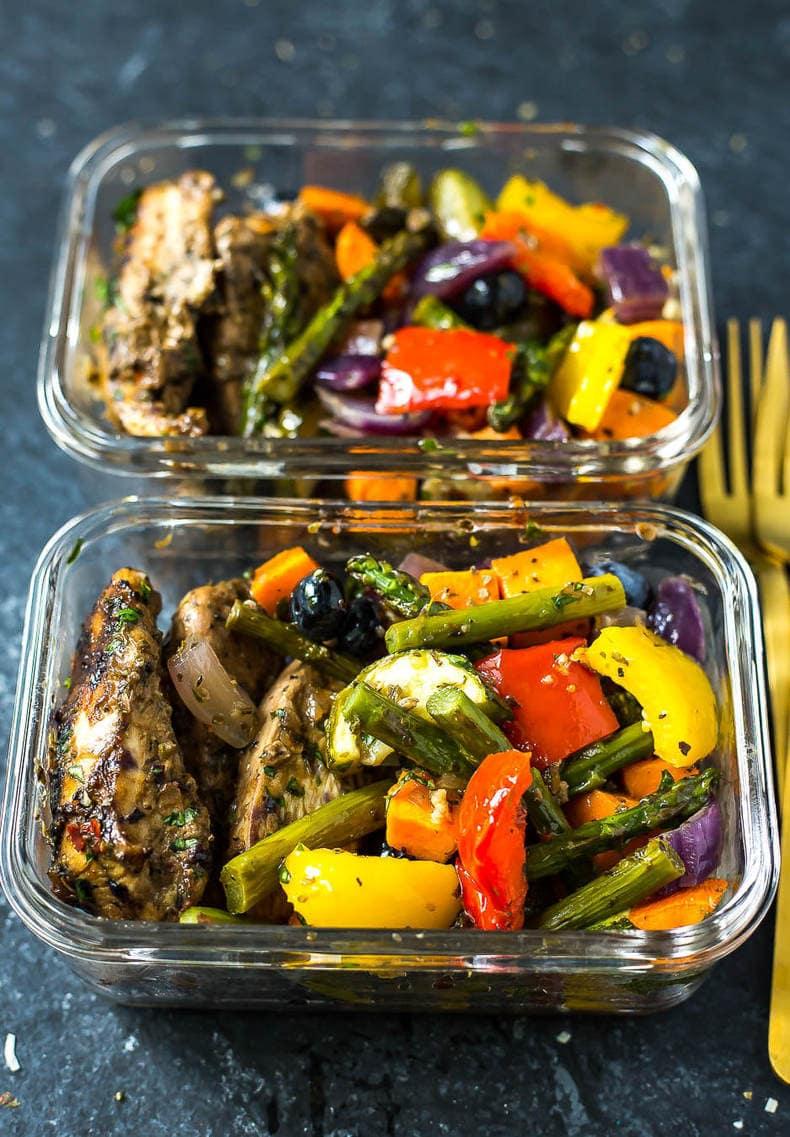 Blueberry Balsamic Sheet Pan Chicken
