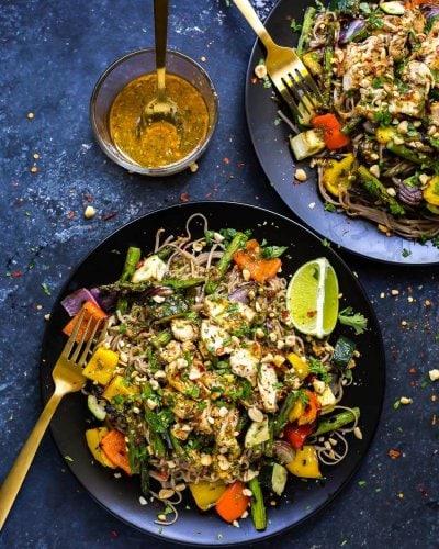 Cilantro Lime Chicken Soba Noodle Bowls