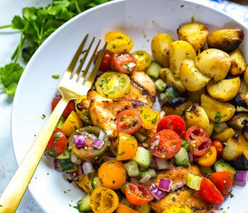 Grilled Chicken with Cucumber Salsa