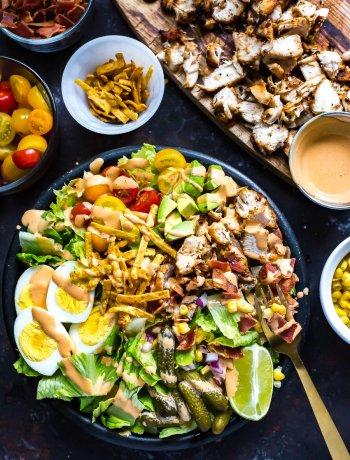 Southwest Grilled Chicken Cobb Salad