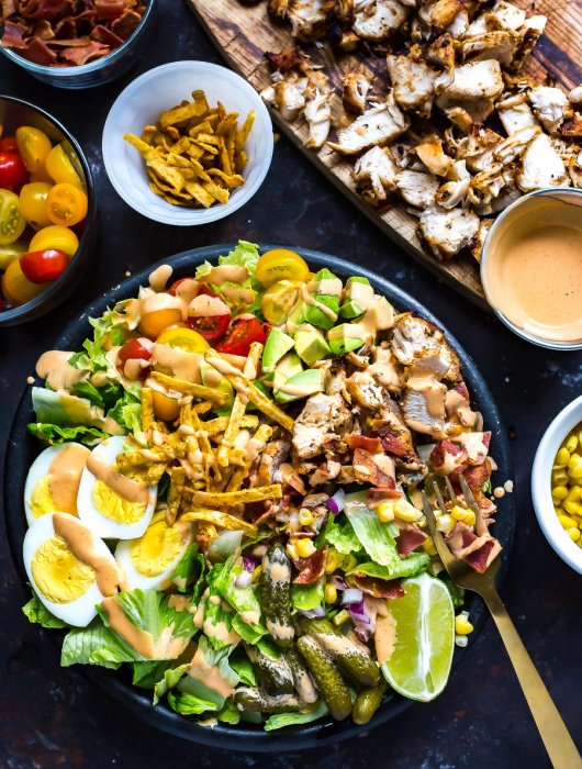 Southwest Grilled Chicken Cobb Salad