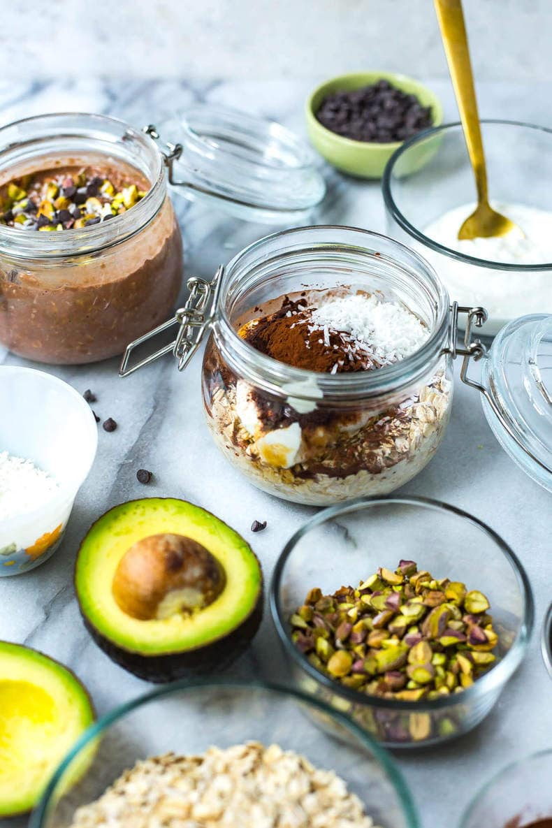Chocolate Avocado Overnight Oats
