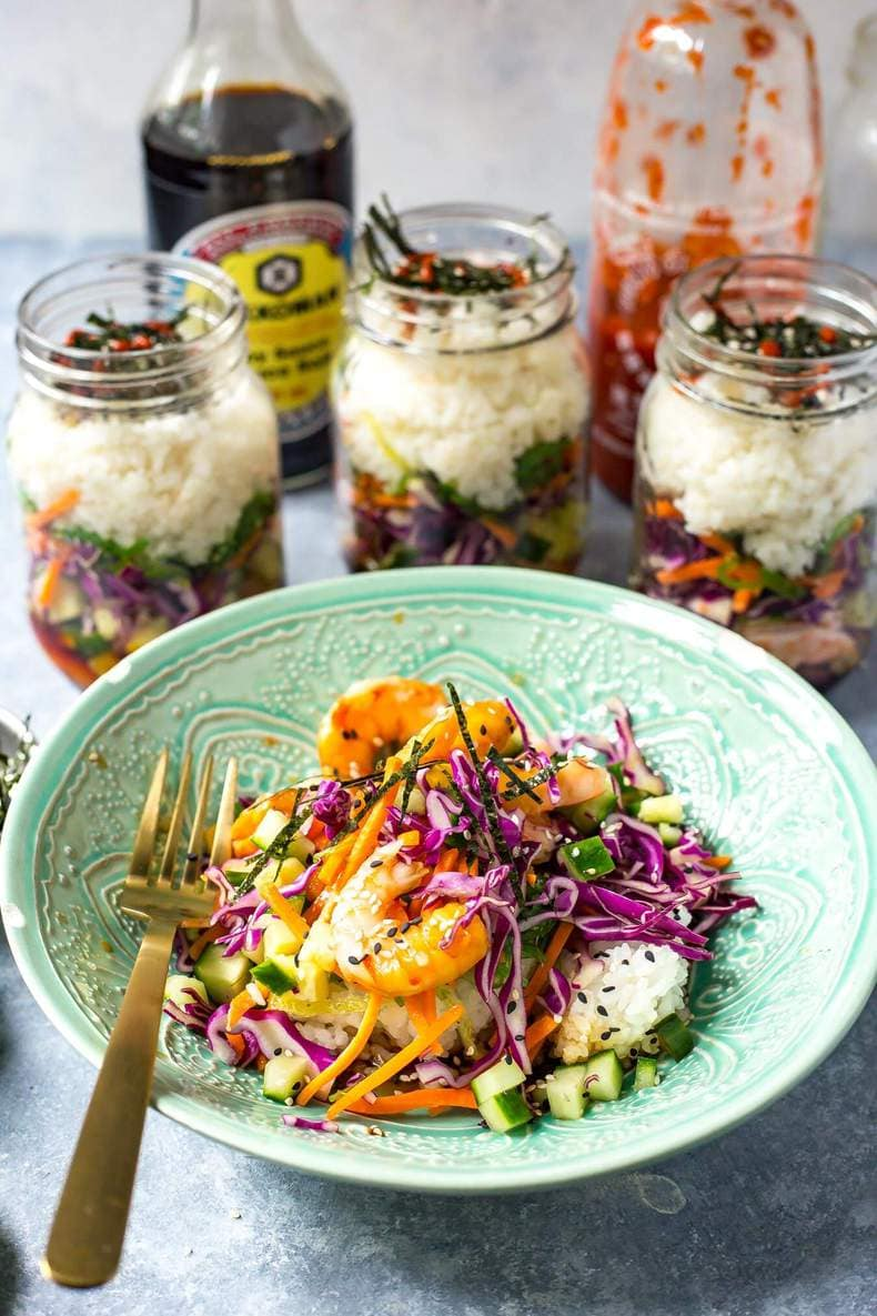 Dynamite Shrimp Sushi Jars