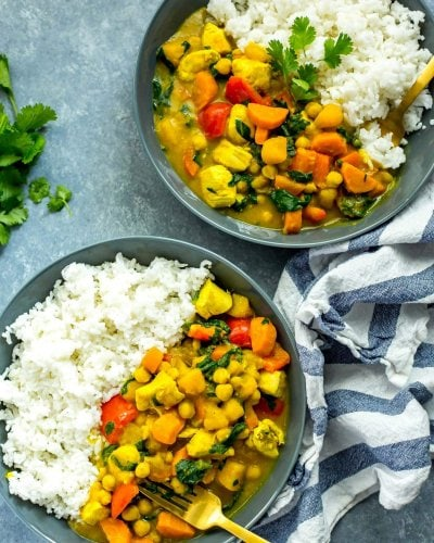 One Pot Butternut Squash Chicken Curry