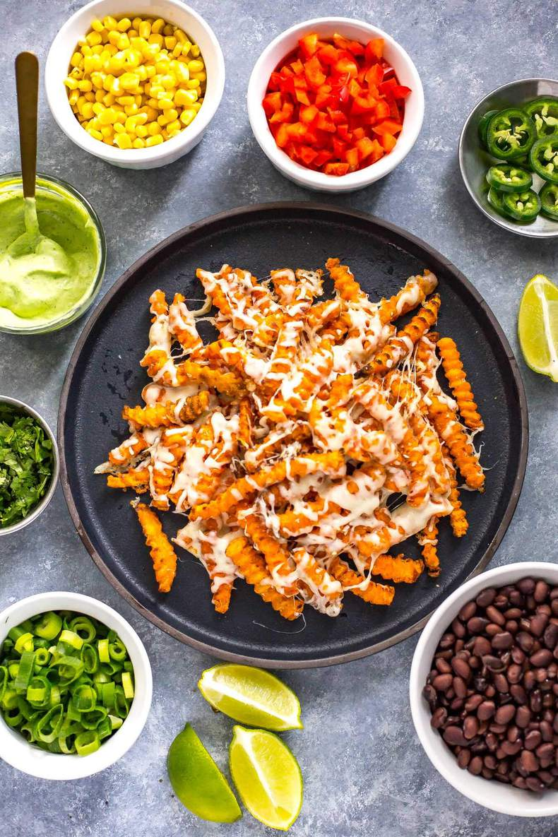 Easy Loaded Tex Mex Sweet Potato Fries