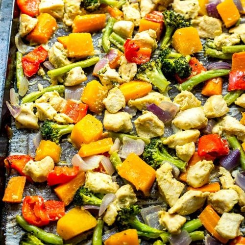 Sheet Pan Honey Mustard Chicken