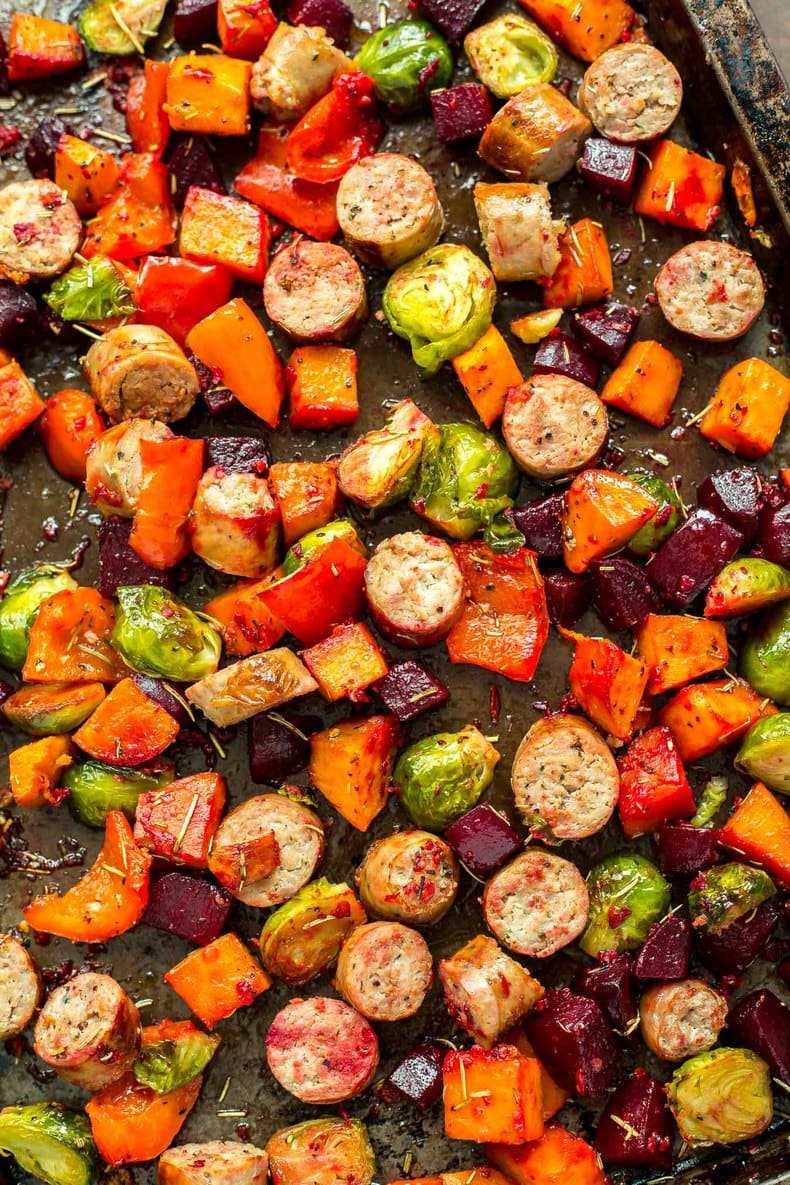 Sausage and Roasted Vegetable Bake