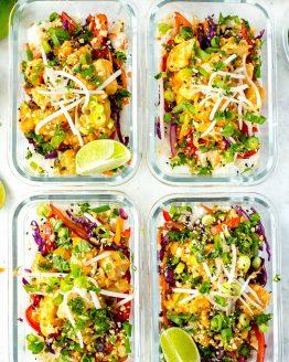 Sweet Chili Thai Chicken Meal Prep Bowls