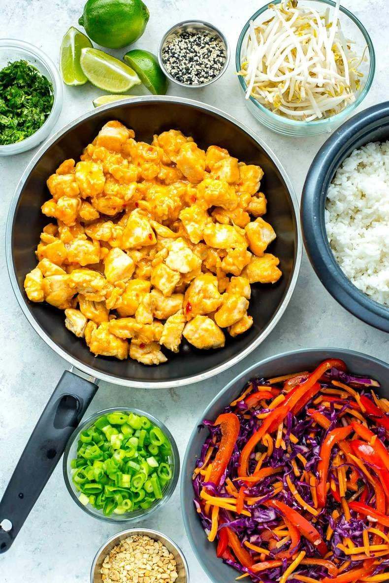 Sweet Chili Thai Chicken Meal Prep Bowls